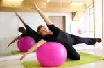 Gymnastikball Rückenschule und Rückenfitness